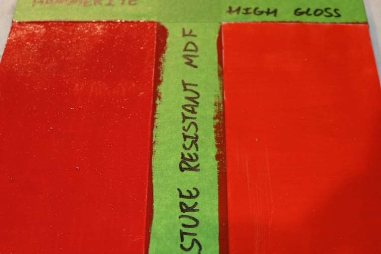 Green MDF Primed scratch test