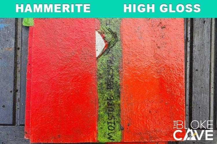 Hammerite on green mdf 6 months primer
