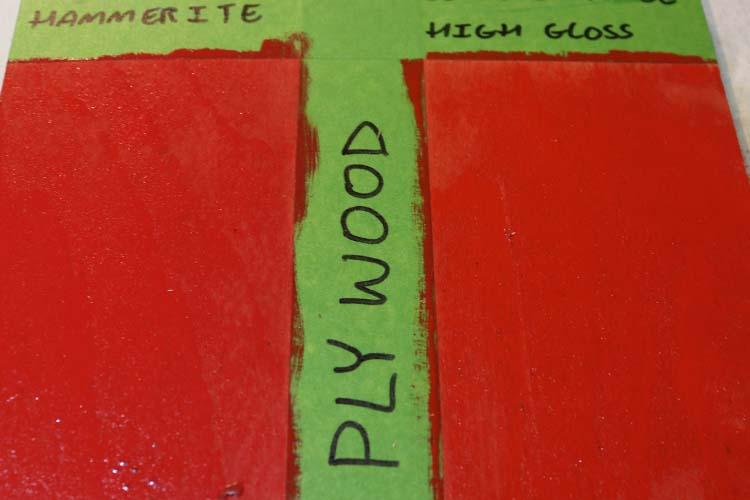 Plywood scratch test