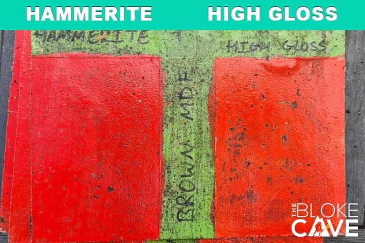 hammerite on brown mdf 6 months primer