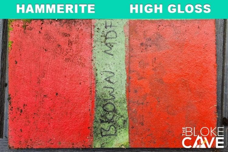 hammerite on brown mdf no primer 6 months