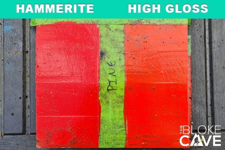 hammerite on pine 6 months primer