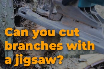 Can I use a jigsaw to cut tree branches?