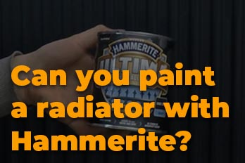 Can you paint a radiator with Hammerite?