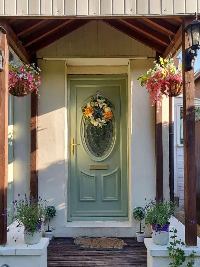 after painting uPVC door