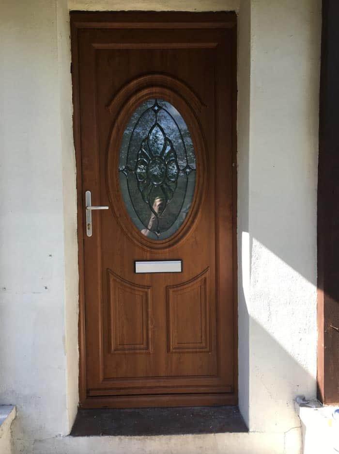 before painting uPVC door