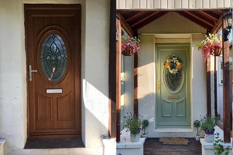 Can you paint uPVC front doors?