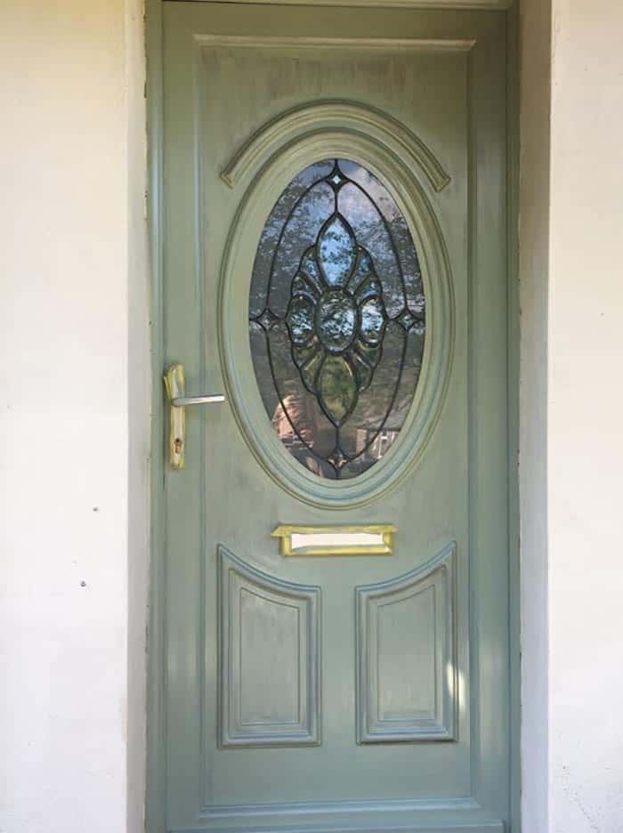 during painting uPVC door