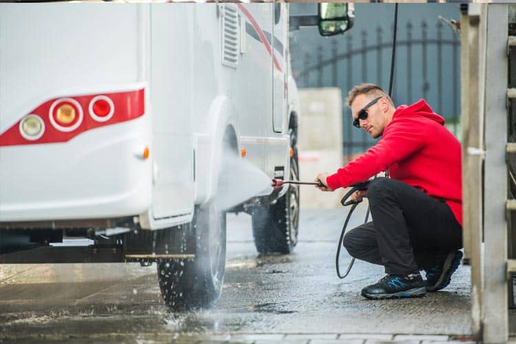 How to use a pressure washer without an outside tap