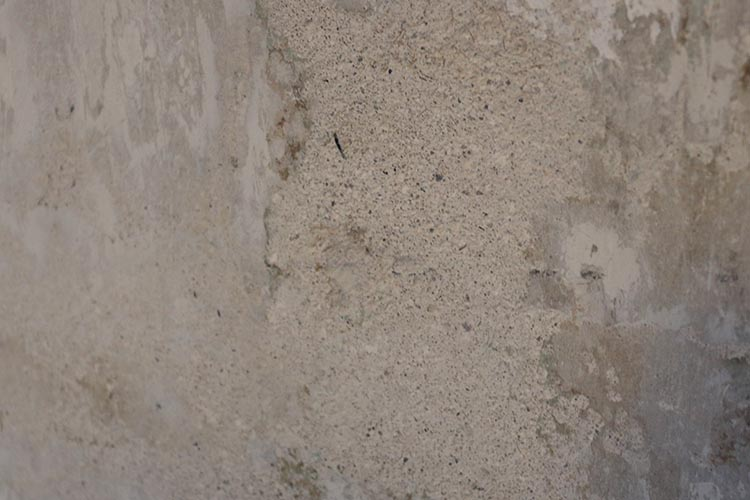 Rough plaster when sanded down