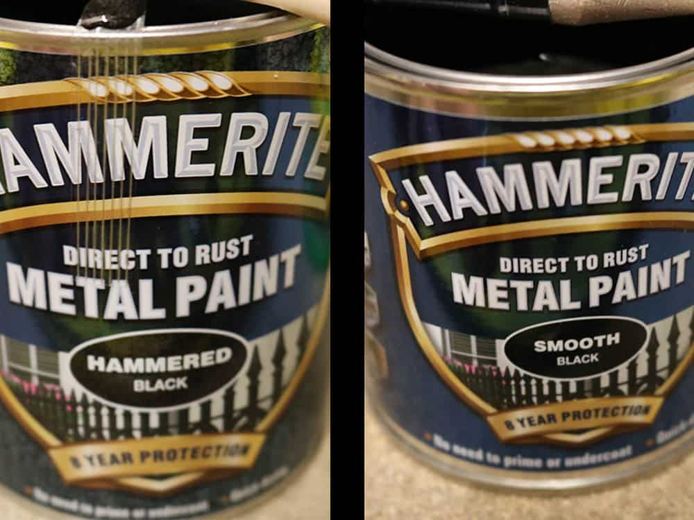 Hammerite smooth vs hammered, what's the difference?