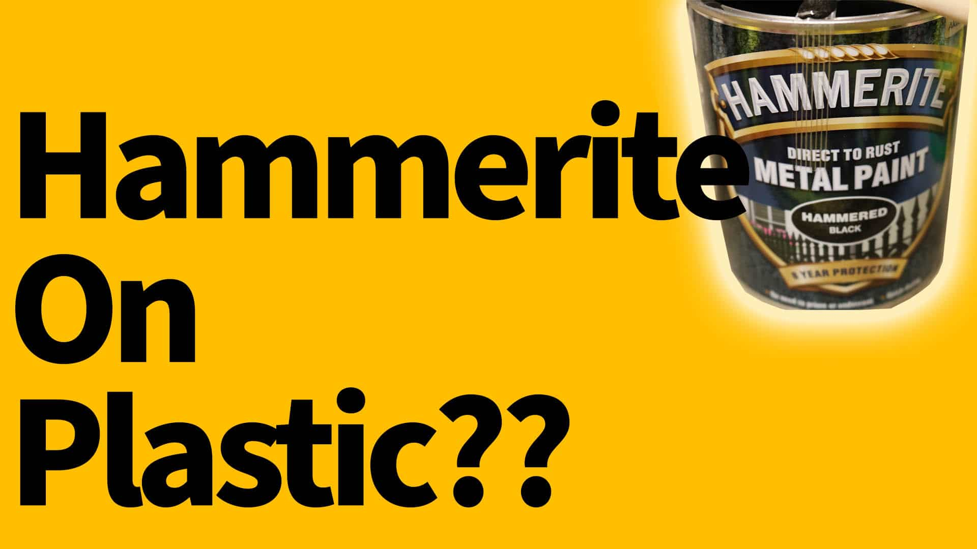Can you use Hammerite on plastic?