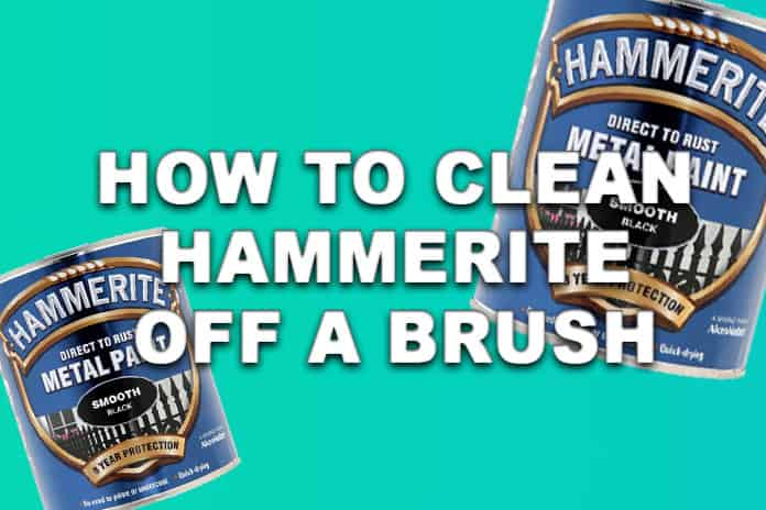 How to clean Hammerite off brushes