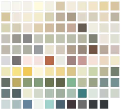 Farrow & Ball Masonry Paint Colour Chart