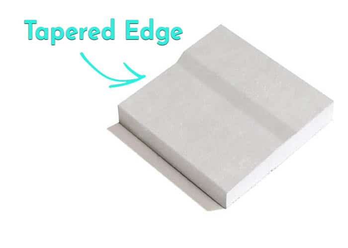 What is tapered edge plasterboard