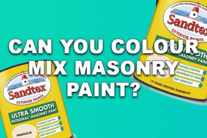 Can You Colour Mix Masonry Paint?