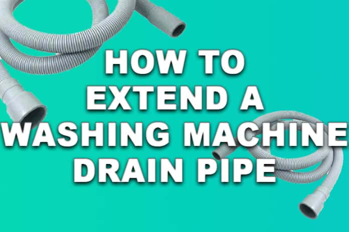 How to extend washing machine waste pipe