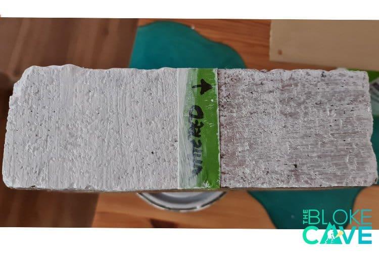 watered down masonry paint on brick