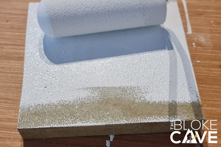 Painting gloss onto mdf with a foam roller
