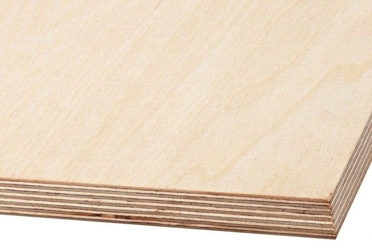 Sheet of birch plywood