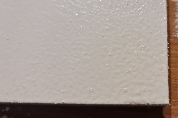 Water based gloss with a roller result
