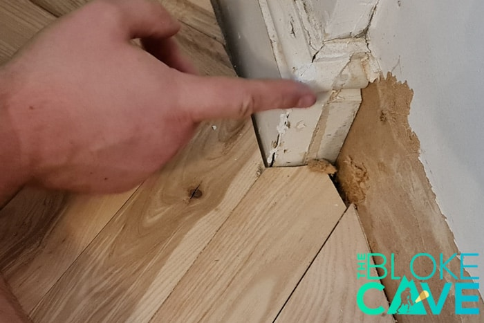 Push The Caulk Into The Gap Using Your Finger