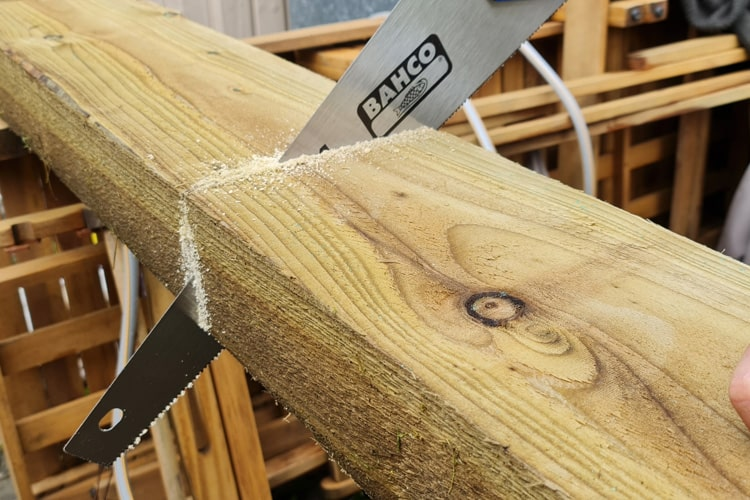 Step 4 - Keep Sawing!
