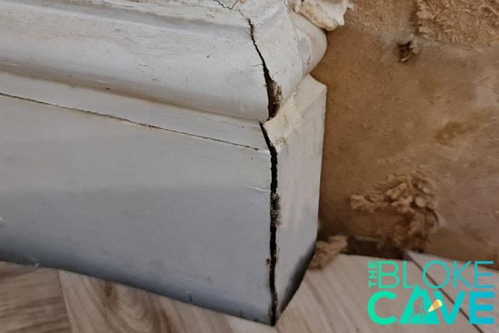 The Gap In The Skirting Board Corner