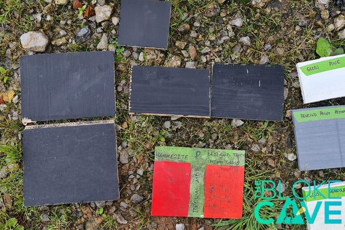 The Blackboard Paint Sample Pile