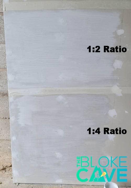 1-4 ratio and 1-2 ratio