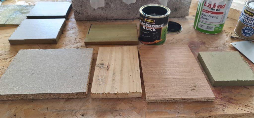 Blackboard paint on wood