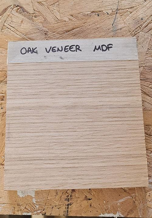 Oak Veneer Sample to be painted with chalk paint