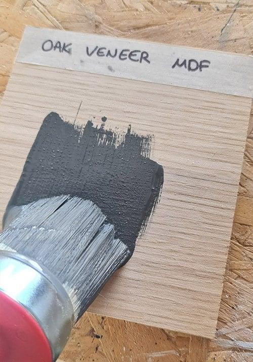 Painting the veneer