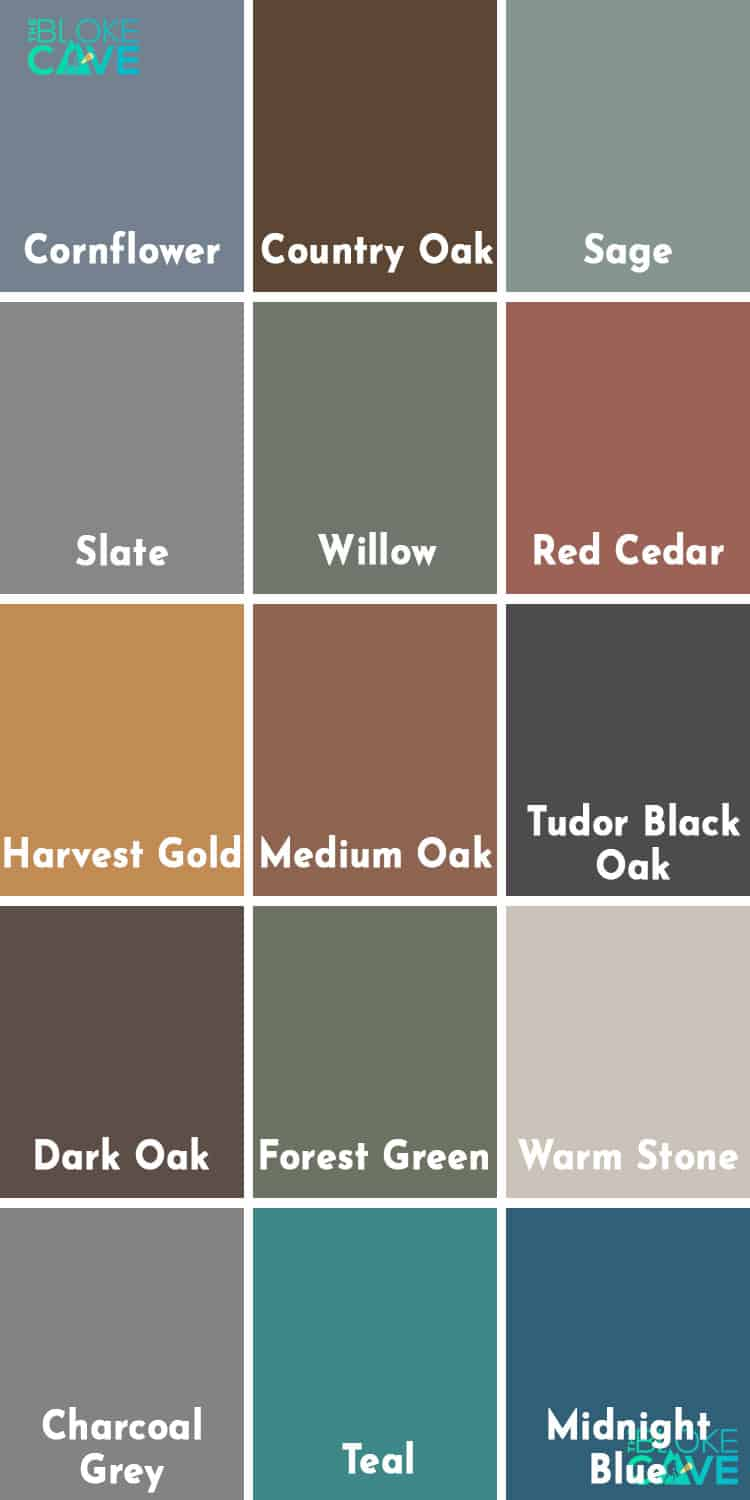 Ronseal Fence Life Plus Colour Chart