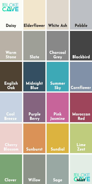 Ronseal Garden Paint Colour Chart
