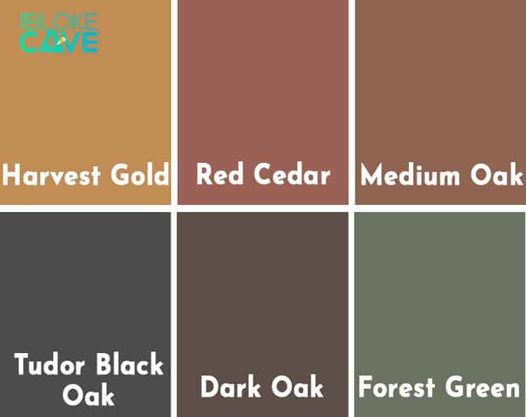 Ronseal One Coat Fence Life Colour Chart