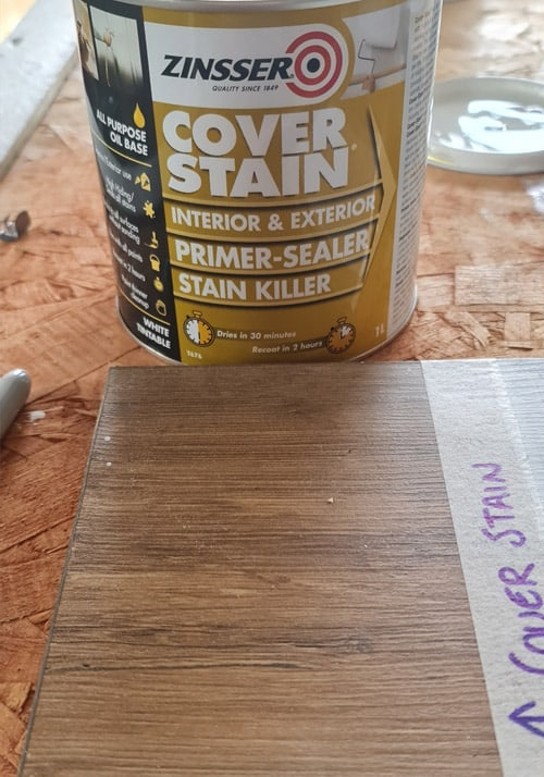 The Cover Stain About To Go On