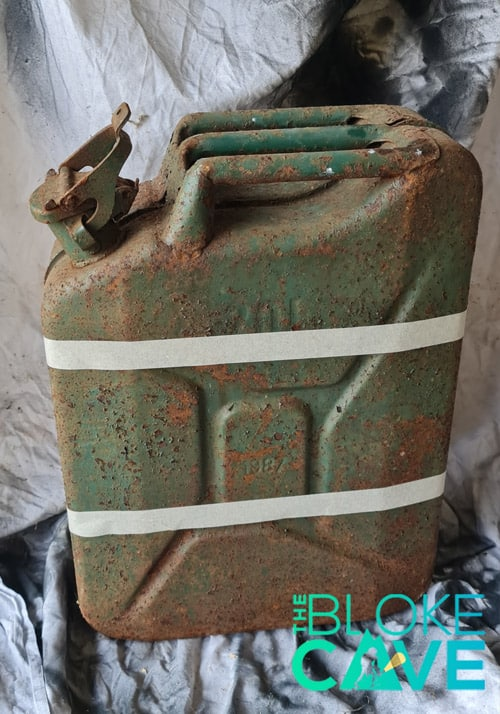 The Jerry Can Ready To Be Painted