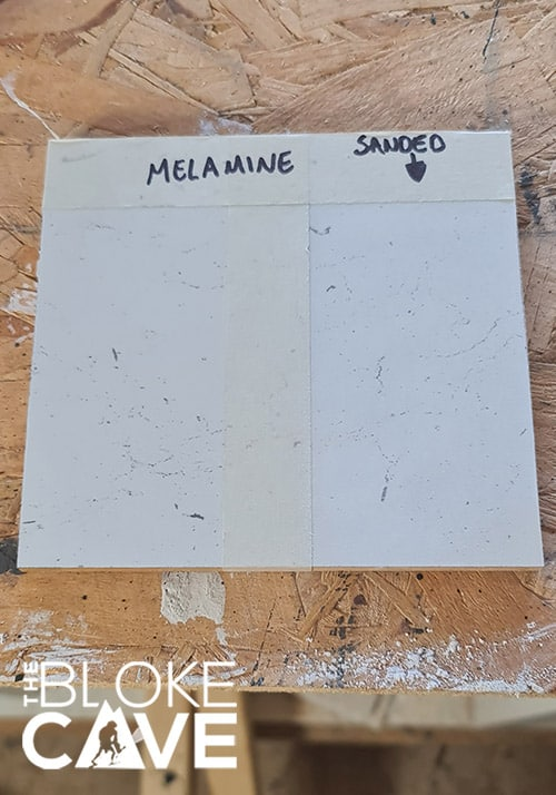 The Melamine before being painted