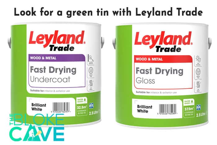 Look for a green tin with leyland trade paints